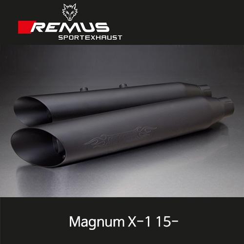 레무스 빅토리 매그넘 X-1(15-) 스틸블랙 EEC 슬립온 커스텀 Slash cut 좌/우 Ø102mm (4인치) 아크라포빅