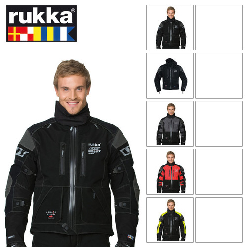 [루카 오토바이 자켓 용품]Rukka Armas GORE-TEX® Jacket (Black/Yellow)