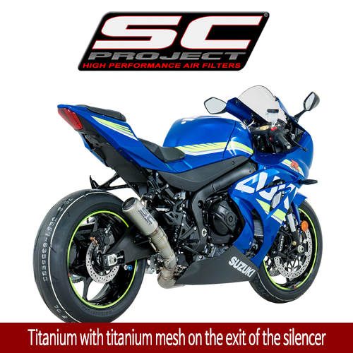 SC프로젝트 GSX-R1000 2017 CR-T MUFFLER Titanium with titanium mesh on the exit of the silencer