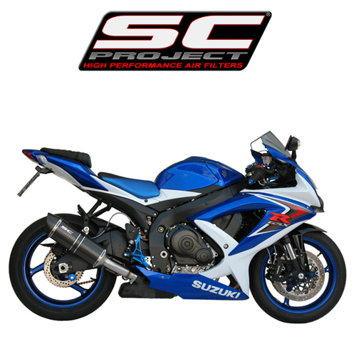 SC프로젝트 GSX-R600/750 '08-10 Short Oval-line silencer Carbon fiber with carbon cap