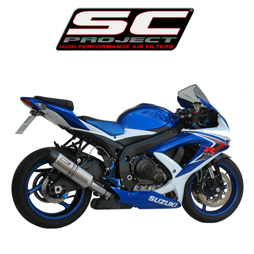 SC프로젝트 GSX-R600/750 '08-10 Short Oval-line silencer Titanium with carbon cap