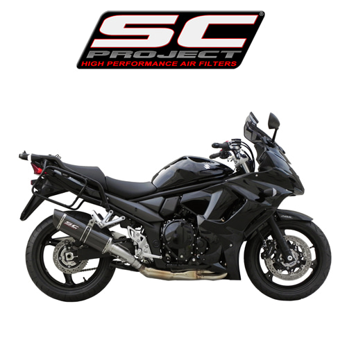 SC프로젝트 GSX1250F TRAVELLER OVAL SILENCER Carbon fiber with carbon cap