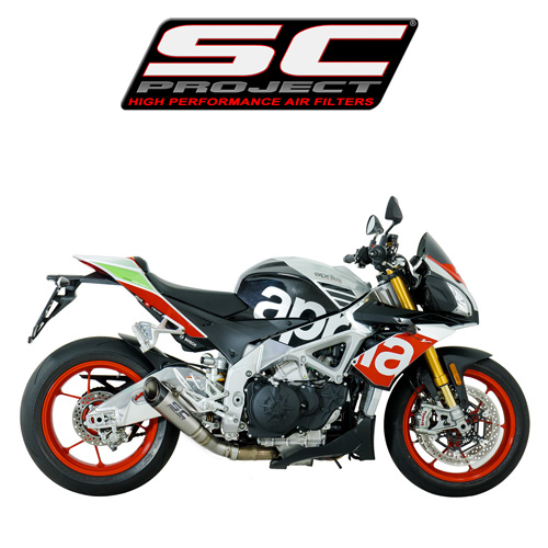 SC프로젝트 APRILIA TUONO V4 1100 RR/FACTORY '17 S1 Silencer-Low position Titanium with carbon cap