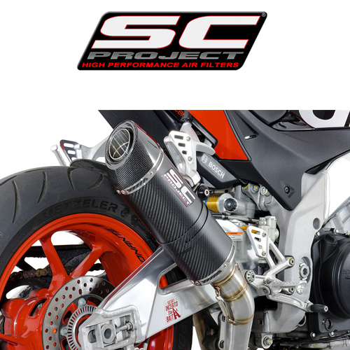 SC프로젝트 APRILIA TUONO V4 FACTORY/RR '15-16 Oval Silencer Carbon fiber with carbon cap