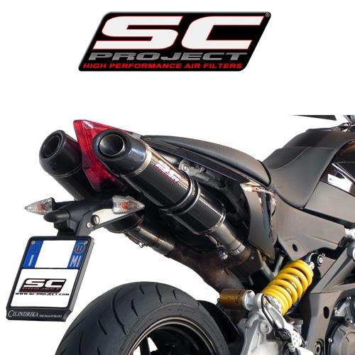 SC프로젝트 APRILIA DORSODURO 1200 Oval - line silencers Carbon fiber with carbon cap