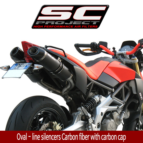 SC프로젝트 APRILIA DORSODURO 750  Oval - line silencers Carbon fiber with carbon cap