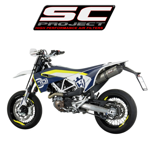 SC프로젝트 HUSQVARNA 701 CRS Silencer Titanium with carbon cap