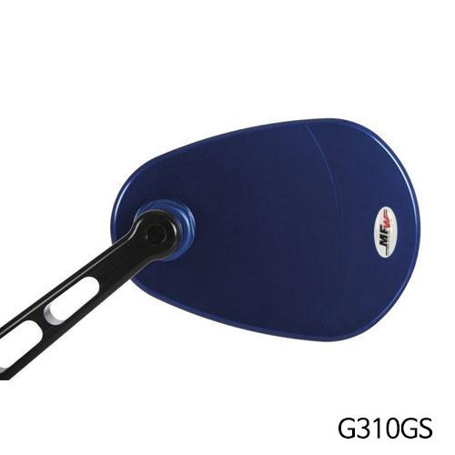 분덜리히 G310GS MFW aspherical aluminium mirror body - blue