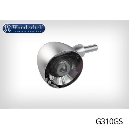 분덜리히 G310GS Kellerman Bullet 1000 (piece) - front - matt chrome