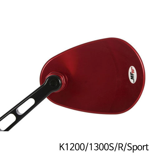 분덜리히 K1200/1300S/R/Sport MFW aspherical aluminium mirror body - red