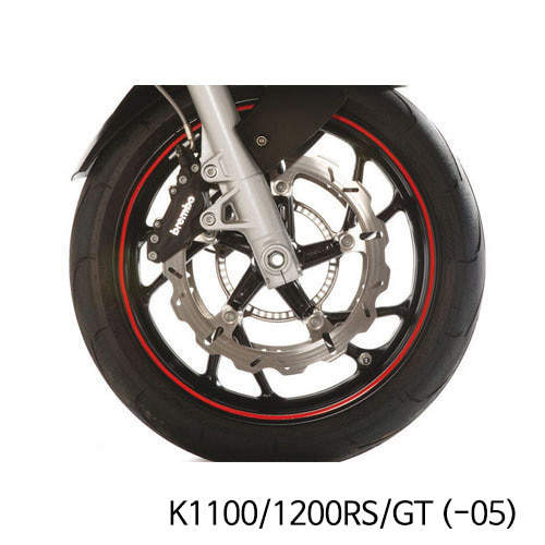 분덜리히 K1100/1200RS/GT (-05) Wheel rim stickers - red