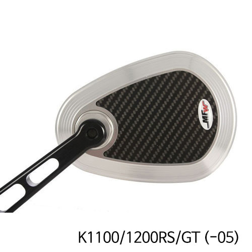 분덜리히 K1100/1200RS/GT (-05) MFW aspherical aluminium mirror body - carbon-silver