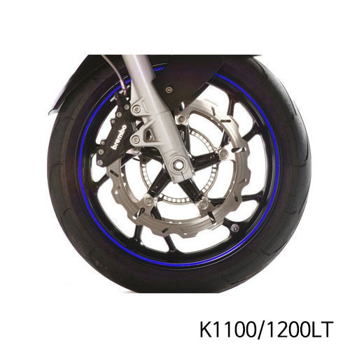 분덜리히 K1100/1200LT Wheel rim stickers - blue
