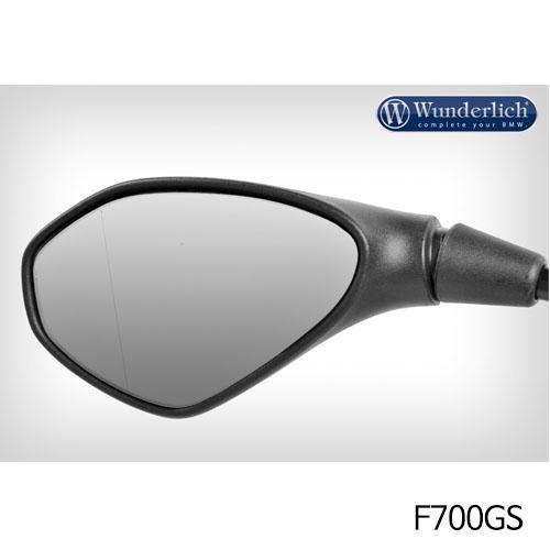 분덜리히 F700GS Mirror glass expansion ?SAFER-VIEW - left 크롬색상