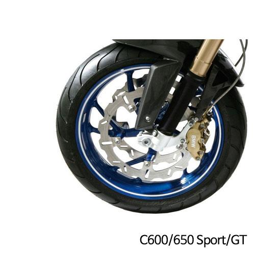 분덜리히 BMW C600/650 Sport/GT 휠 림 스티커 화이트색상