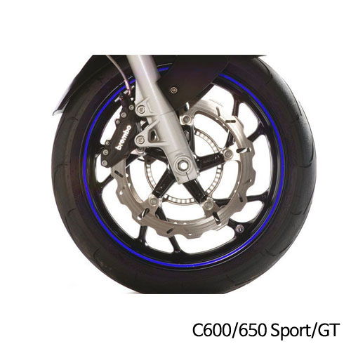 분덜리히 BMW C600/650 Sport/GT 휠 림 스티커 블루색상