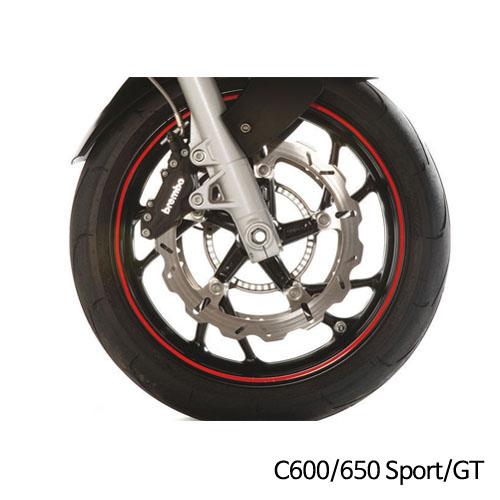 분덜리히 BMW C600/650 Sport/GT 휠 림 스티커 레드색상