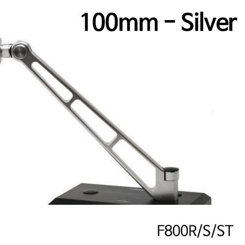 분덜리히 F800R MFW Naked Bike mirror stem - 100mm 실버색상
