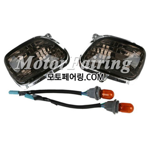 골드윙/튜닝파츠/Smoke Plastic Front Side Turn Signal Lights For Honda Goldwing GL1800 01-13 New 25