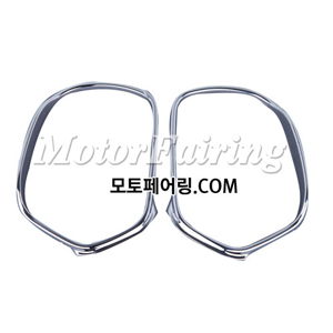 골드윙/튜닝파츠/Chrome Rear View Side Mirrors Trim Decoration For Honda GOLDWING GL1800 01-11 50