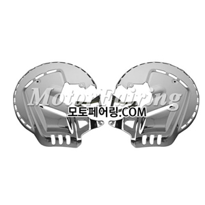 골드윙/튜닝파츠/Brake Disc Rotors Chrome Cover With White LED For 01-11 Honda GOLDWING GL1800 75