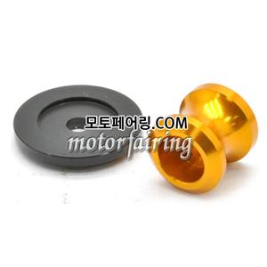 [후크슬라이더]Kawasaki ZX-6R ZX-10R Z750 Z1000 ZZR1400 Billet M10 Swing Arm Spools 01 Gold 15