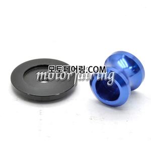 [후크슬라이더]Kawasaki ZX-6R ZX-10R Z750 Z1000 ZZR1400 Billet M10 Swing Arm Spools 01 Blue 15