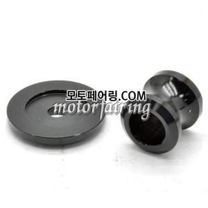 [후크슬라이더]Kawasaki ZX-6R ZX-10R Z750 Z1000 ZZR1400 Billet M10 Swing Arm Spools 01 Black 15