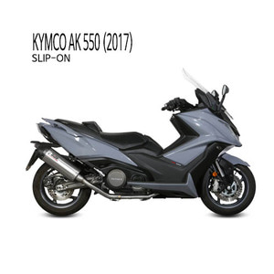 미브 머플러 KYMCO AK 550 (2017) OVAL TITANIUM WITH CARBON CAP 슬립온