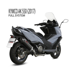 미브 머플러 KYMCO AK 550 (2017) OVAL BLACK BLACK STAINLESS STEEL WITH CARBON CAP 풀시스템