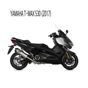 미브 머플러 YAMAHA T-MAX 530 (2017) OVAL TITANIUM WITH CARBON CAP 풀시스템