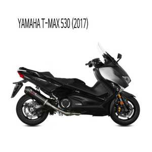 미브 머플러 YAMAHA T-MAX 530 (2017) OVAL BLACK   BLACK STAINLESS STEEL WITH CARBON CAP 풀시스템