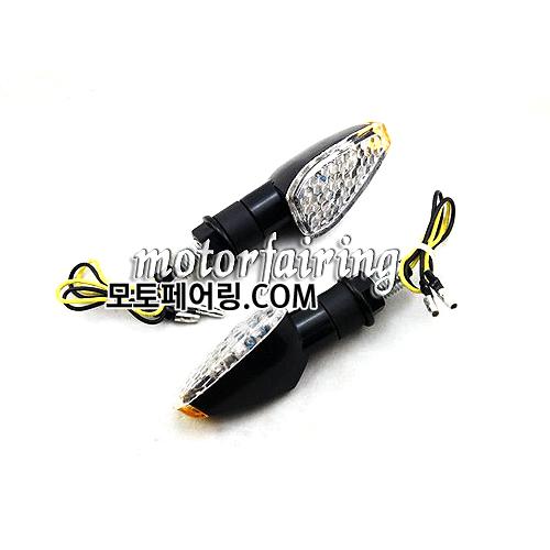 [깜빡이]LED Motorcycle Turn Signals Light Lamp Amber Lights Black MT303-8  HL004517 23