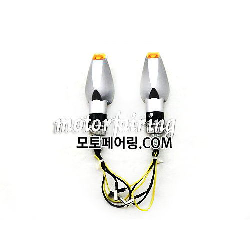 [깜빡이]LED Motorcycle Turn Signals Light Lamp Amber Lights Black MT303-8 HL004518 23