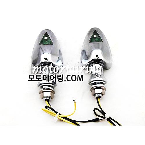 [깜빡이]Motorcycle Turn Signal 18 LEDS Lights CNC Aluminum LED Chrome MT303-9 30