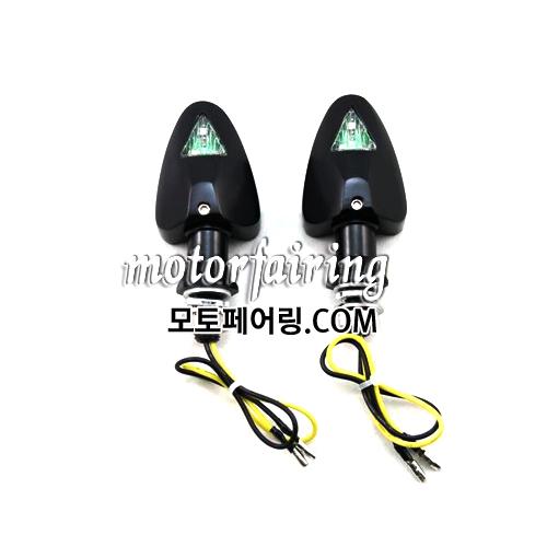 [깜빡이]Motorcycle Turn Signals Light Lamp Amber Lights Black 30MT303-9 HL004519 30