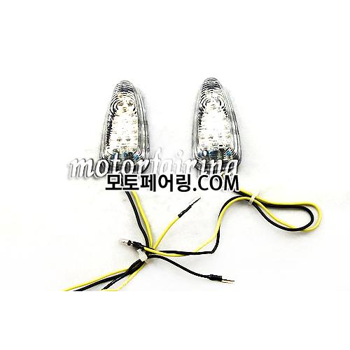 [깜빡이]Universal Motorcycle LED Turn Signals Light Indicator Flasher MT303-4C 13
