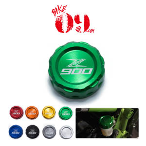 가와사키 Motoo - Motorcycle CNC Aluminum Rear Brake Fluid Reservoir Cover Cap For Kawasaki Z900 Z 900 with z900 logo