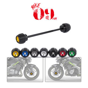 가와사키 Motoo -Fit For Kawasaki Z900 2017 Motorcycle Full Aluminum Front Axle Fork Crash Sliders Wheel Protector for z 900