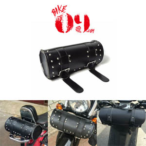 할리 Handlebar Bag PU Leather Sissy Bar Tool Bag