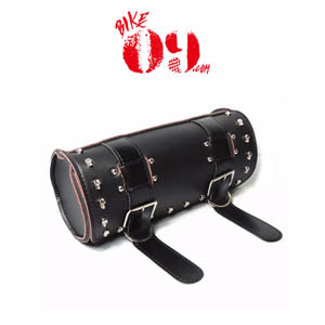 할리 Scooter Tool Bag PU Leather Saddle Bag Forks Handlebar Bags