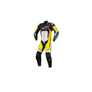 알파인스타 슈트, 가죽 슈트, 원피스 슈트 Alpinestars Motegi V2 One Piece Leather Suit (Black/White/Red/Yellow)