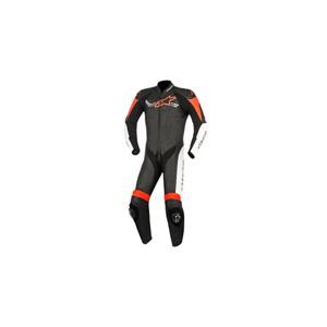 알파인스타 슈트, 가죽 슈트, 원피스 슈트 Alpinestars Challenger V2 One Piece Leather Suit (Black/White/Red)