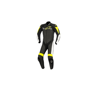 알파인스타 슈트, 가죽 슈트, 원피스 슈트 Alpinestars Challenger V2 One Piece Leather Suit (Black/White/Yellow)
