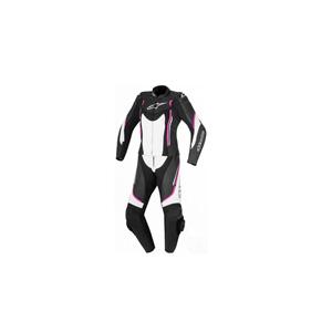 알파인스타 슈트, 가죽 슈트, 투피스 슈트 Alpinestars Stella Motegi V2 Two Piece Ladies Leather Suit (Black/White/Pink) - 여성용