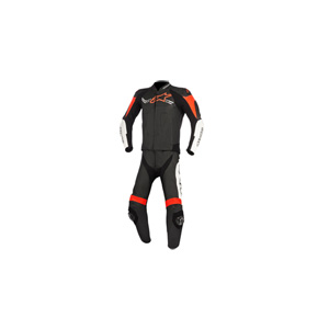 알파인스타 슈트, 가죽 슈트, 투피스 슈트 Alpinestars Challenger V2 Two Piece Leather Suit (Black/White/Red)