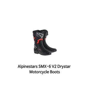 알파인스타 부츠 Alpinestars SMX-6 V2 Drystar Motorcycle Boots (Black/Red)