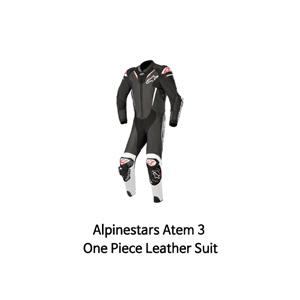 알파인스타 슈트, 가죽 슈트, 원피스 슈트 Alpinestars Atem 3 One Piece Leather Suit (Black/White)