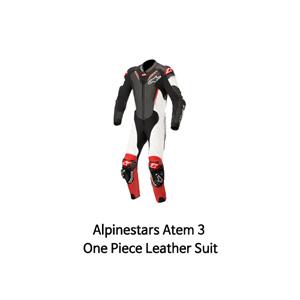 알파인스타 슈트, 가죽 슈트, 원피스 슈트 Alpinestars Atem 3 One Piece Leather Suit (Black/White/Red)