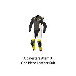 알파인스타 슈트, 가죽 슈트, 원피스 슈트 Alpinestars Atem 3 One Piece Leather Suit (Black/White/Yellow)